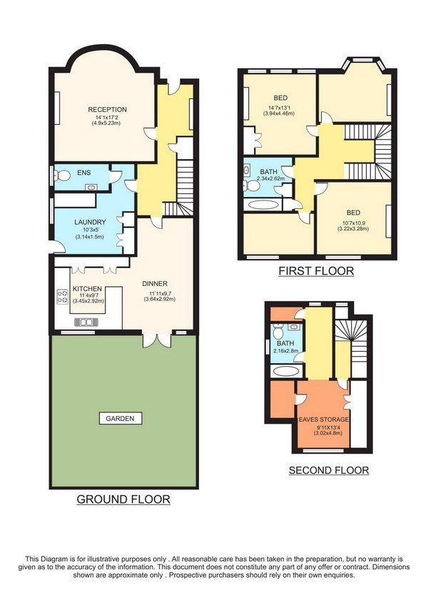 Colour property floorplan