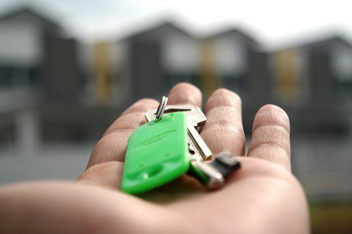 property estate agent with key