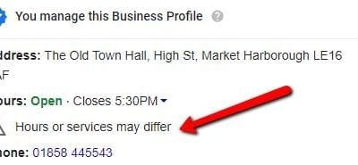 How to remove the 'Hours or services may differ' notice on your Google Business