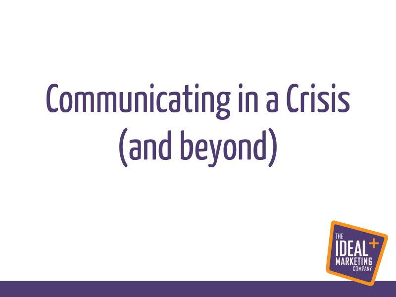 Communicating in a crisis webinar replay – week 1 – getting your message right