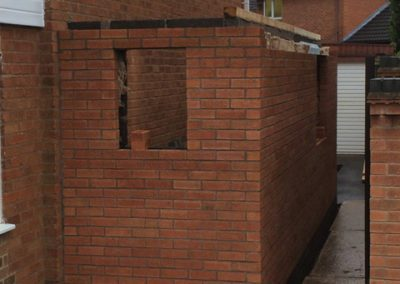 side of house extension build