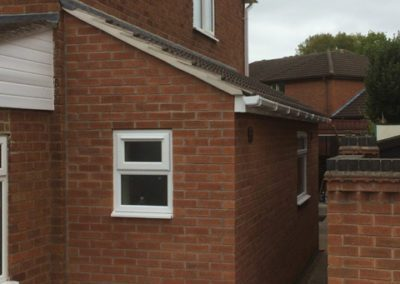 Side extension with a utility room and cloakroom