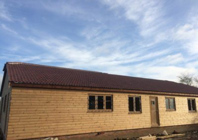 timber house build from front