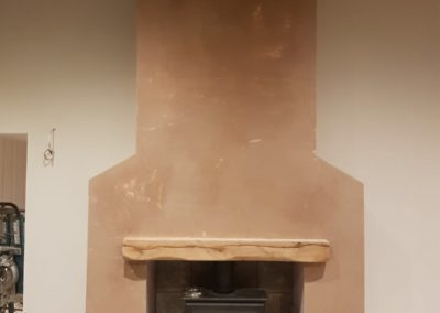 installation of new fireplace in house build