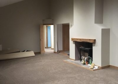 remodelling fireplace building work
