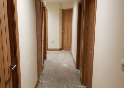 corridor timber house build