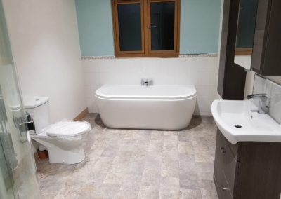 New bathroom installation by our loughborough builders