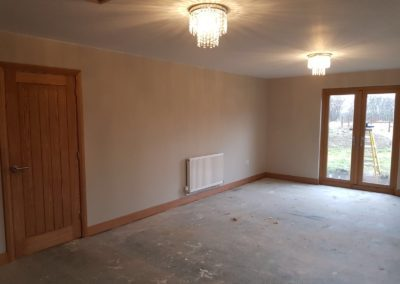 Interior build of timber house