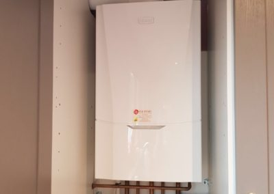 New boiler installation in kitchen