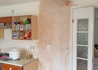 Kitchen dining wall knock down