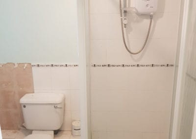 Before bathroom renovation work