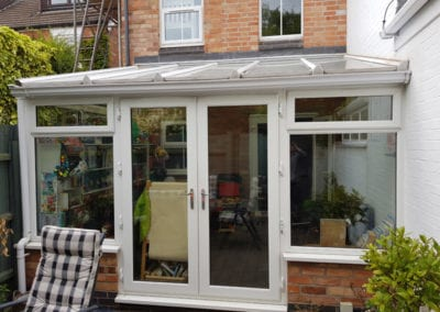 Conservatory changed to rear extension
