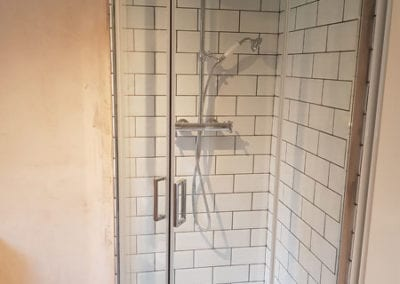 installing new walk in shower
