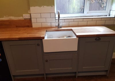 Newly fitted kitchen sink