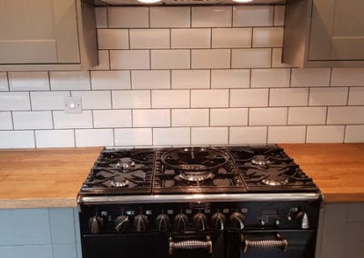 Newly fitted oven and cooker