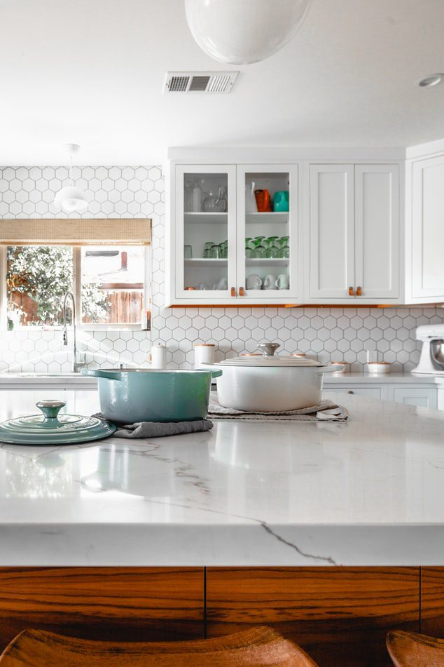 marble counters in kitchen