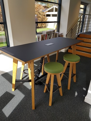 MArtin high meeting table in office