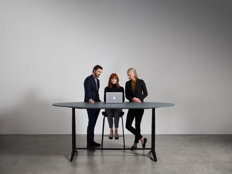 ACDC Sit Stand Meeting Table in an office